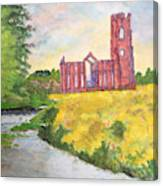 Fountains Abbey In Yorkshire Through Japanese Eyes Canvas Print