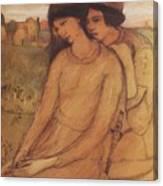 Francesca Da Rimini And Paolo Malatesta 1903 Canvas Print