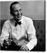 Frank Sinatra Backstage At The Sands Canvas Print