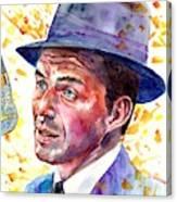 Frank Sinatra Singing Canvas Print