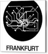 Frankfurt Black Subway Map Canvas Print