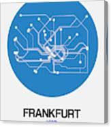 Frankfurt Blue Subway Map Canvas Print