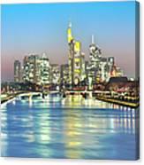 Frankfurt  Night Skyline Canvas Print