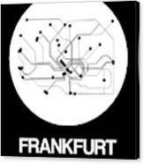 Frankfurt White Subway Map Canvas Print