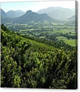 Franschhoek Valley Canvas Print