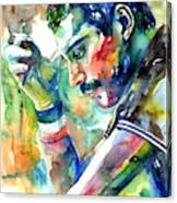 Freddie Mercury With Cigarette Canvas Print