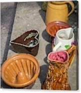 French Flea Market Pottery Canvas Print