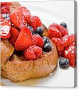 French Toast With Berries And Maple Canvas Print