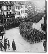 French Troops Entering Colmar Canvas Print