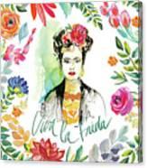 Fridas Flower Fancy I Canvas Print
