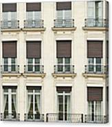 Front View Of Paris Architecture Canvas Print