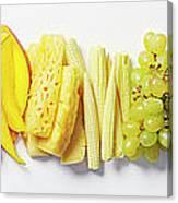 Fruit & Vegetable Color Wheel Canvas Print