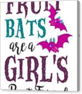 Fruit Bat Conservation Halloween Flying Fox Women Light Canvas Print