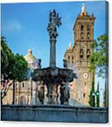 Fuente De Puebla Canvas Print