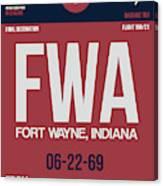 Fwa Fort Wayne Luggage Tag II Canvas Print