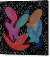 Galaxies Merging Canvas Print