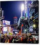 Game Night On Lansdowne Street 2018 World Series Red Sox Boston Ma Canvas Print