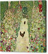 Garden With Chickens, 1916 Canvas Print