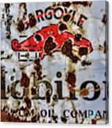 Gargoyle Mobiloil Vacuum Oil Co Rusty Sign Canvas Print