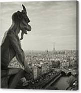 Gargoyle Of Notre Dame Canvas Print