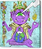 Gautama Buddha Colour Illustration Canvas Print