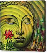 Gautama Buddha Ripple Effect Portrait Canvas Print