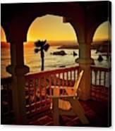 Gazebo View of Central California Coast Canvas Print