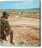 General Patton In The Desert Canvas Print