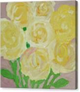 Gentle Yellow Bouquet Canvas Print