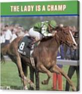 Genuine Risk, 1980 Kentucky Derby Sports Illustrated Cover Canvas Print