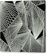 Geometric pattern 1-colour-4 Canvas Print