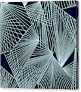 Geometric pattern 1-colour-7 Canvas Print
