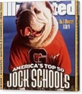 Georgia Bulldogs Mascot Uga V Sports Illustrated Cover Canvas Print