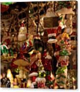 German Christmas Ornaments Canvas Print