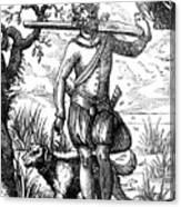 German Falconer, 16th Century Canvas Print