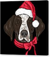 German Shorthair Xmas Hat Dog Lover Christmas Canvas Print