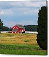 Red Barn On Sherfy Farm Gettysburg Canvas Print