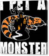 Gila Monster Halloween Venomous Lizard Pet Owner Dark Canvas Print