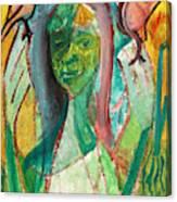 Girl In A Garden Canvas Print