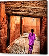 Girl In Marrakech Canvas Print