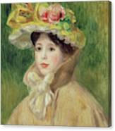 Girl With Yellow Cape, 1901 Canvas Print