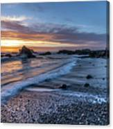 Glass Beach Sunset Canvas Print