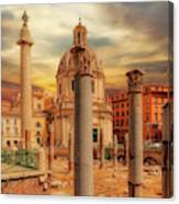 Glories Past And Present,  Rome Canvas Print