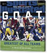 G.o.a.t Greatest Of All Teams Sports Illustrated Cover Canvas Print
