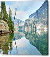 Goat Lake On Cloudy Day In Sawtooth Canvas Print