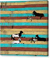 Goats Resting On The Tulsi Ghats Canvas Print