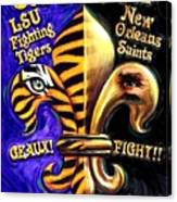 God Bless Our Tigers And Saints Canvas Print