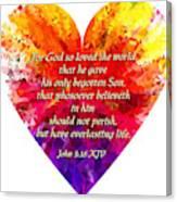 God's Heart Canvas Print