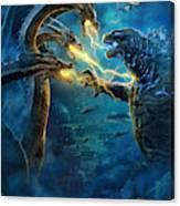 Godzilla II Rei Dos Monstros Canvas Print