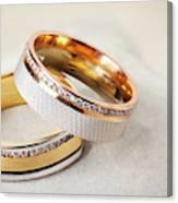 Gold Wedding Ring  Canvas Print